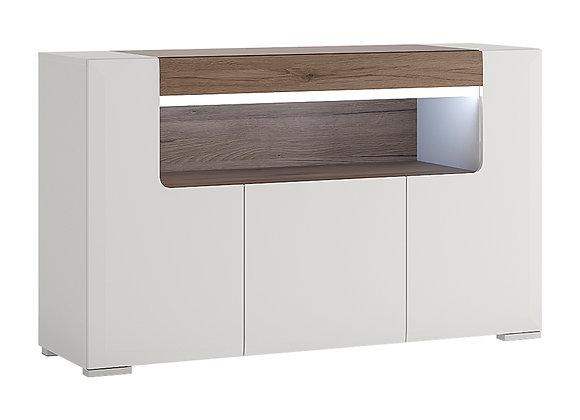 3 Door Sideboard with open shelving (inc Plexi Lighting)