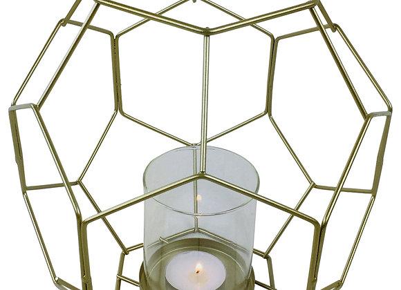 Gold Geometric Candleholder 21cm