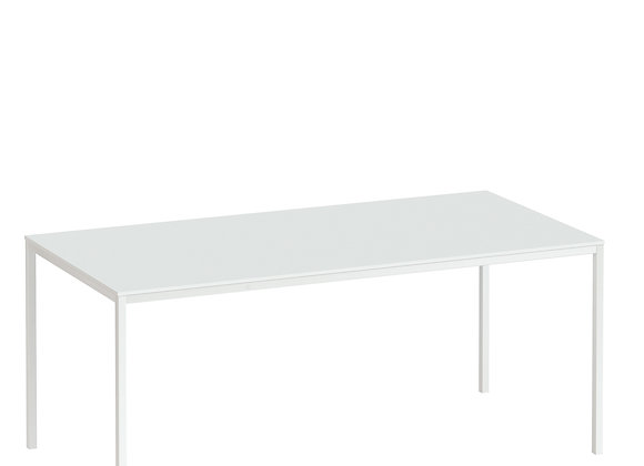 Family Dining Table 140cm White Table Top with White Legs