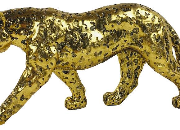Gold Glitter Effect Leopard 40cm