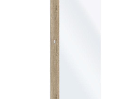 Shoe Cabinet 1 Door w/ Mirror in Oak