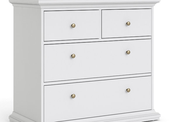 Chest of 4 Drawers in White