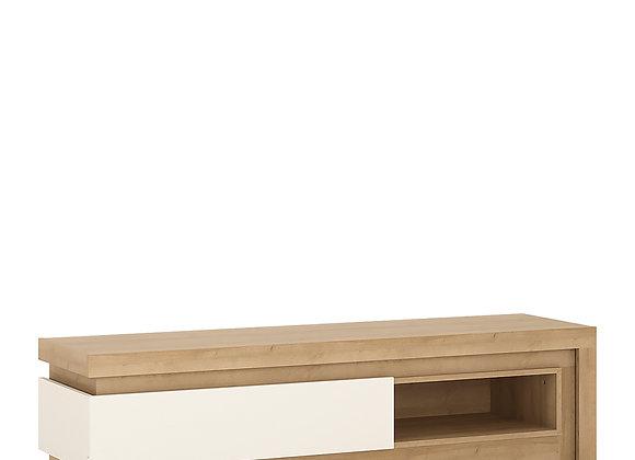 1 drawer TV cabinet with open shelf (including LED lighting)