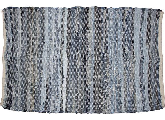 Striped Denim Mat