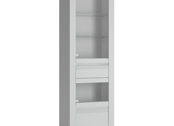 2 door 1 drawer Display Cabinet