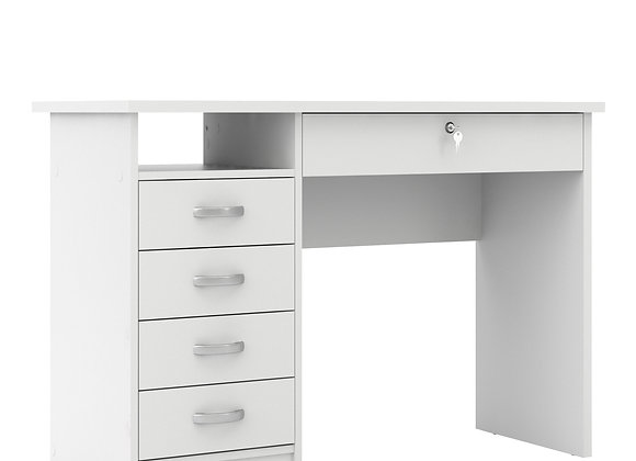 Desk 5 Drawers in White