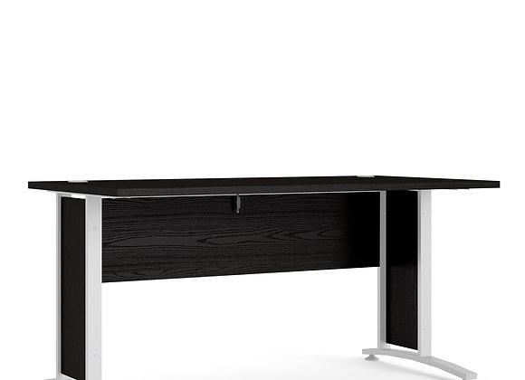 Prima Desk 150 cm in Black woodgrain with White legs