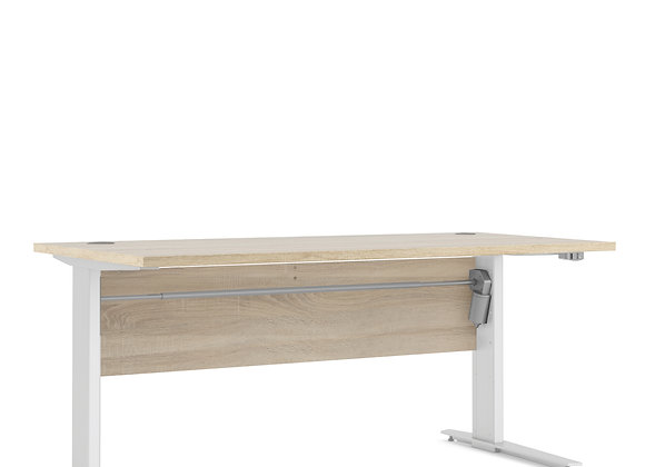 Prima Desk 150 cm in Oak with Height adjustable legs in White