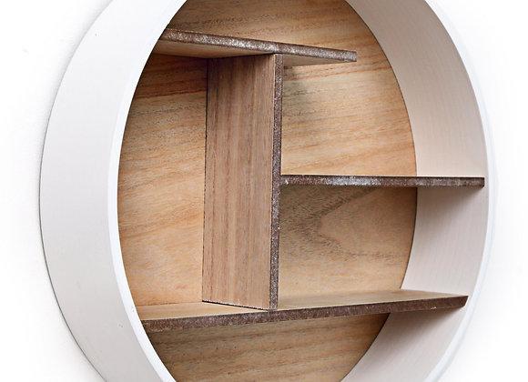 White Round Shelf Unit 46cm