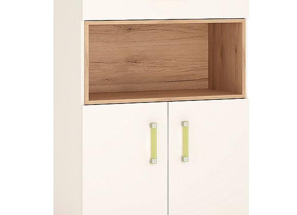 2 Door 1 Drawer Cupboard with open shelf