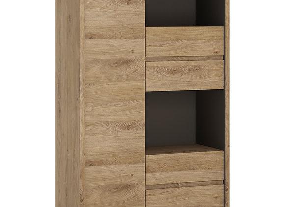 1 Door 4 drawer display cabinet