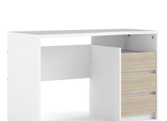 Function Plus Desk 3 drawers White Oak structure