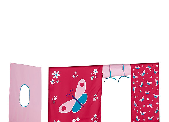 Huxie Curtain Red Butterfly