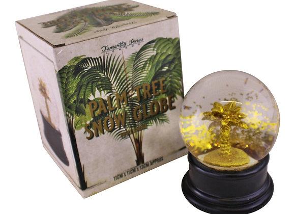 Gold Palm Tree Snow Globe
