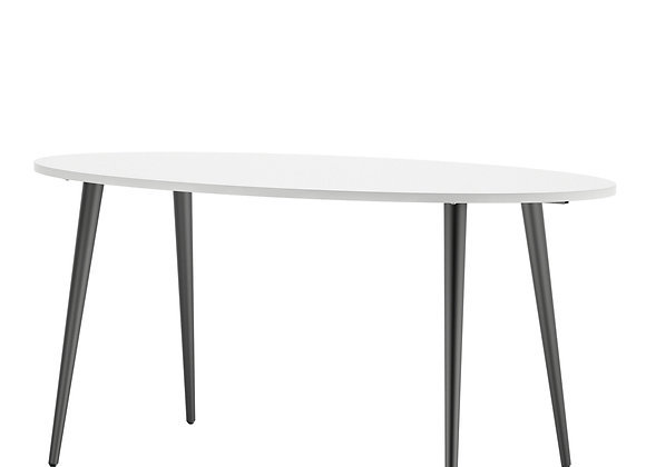 Dining Table - Large (160cm) in White and Black Matt