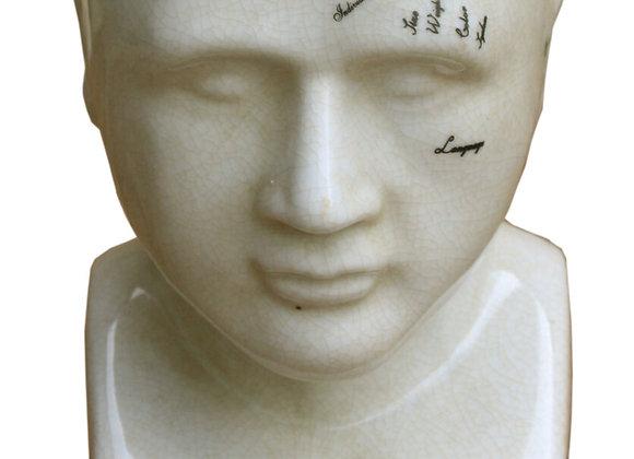 Small Ceramic Phrenology Head, 19cm