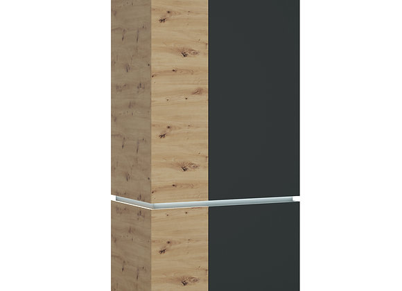 Luci 4 door wardrobe (including LED lighting) in Platinum and Oak