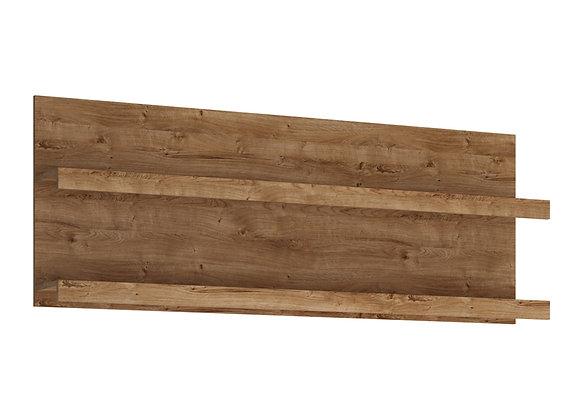 Fribo 166 cm wide wall shelf in Oak