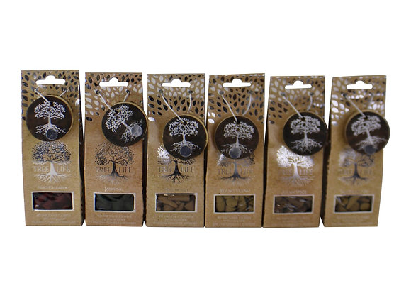 Set of 6 Fragranced Incense Cones With Holders, Tree Of Life Design