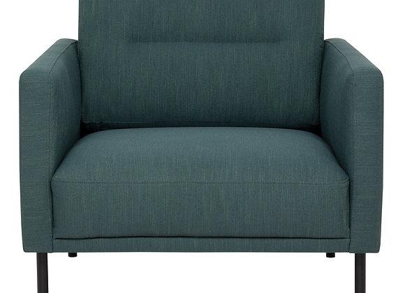 Larvik Armchair - Dark Green, Black Legs