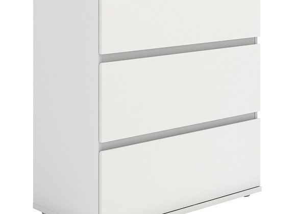 Chest of 3 Drawers in White