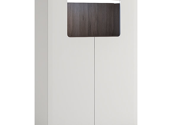 Low 2 Door cabinet with open shelf (inc Plexi Lighting)