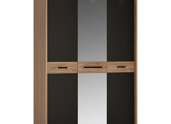 3 door wardrobe with mirror door