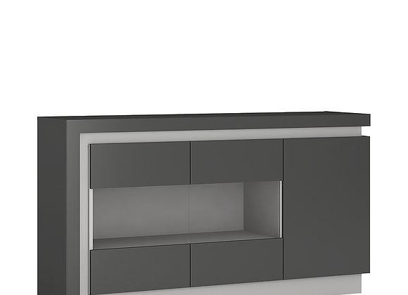 3 door glazed sideboard (including LED lighting)