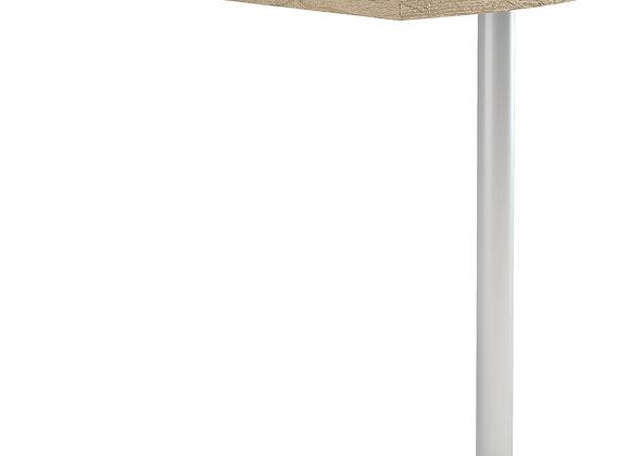 Prima Corner desk top in Oak with Silver grey steel legs