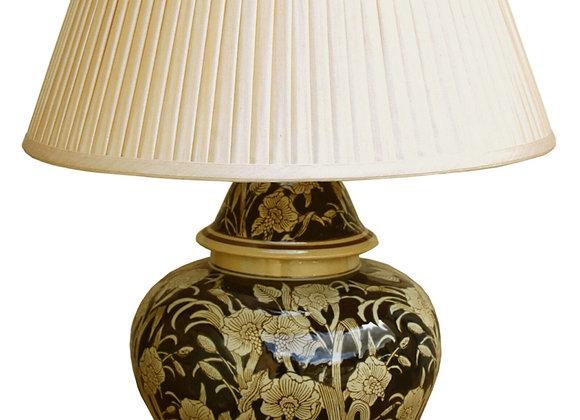 Ceramic Embossed Lamp, Regal Design 67cm