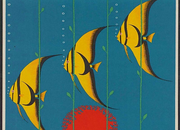 Vintage Metal Sign - Retro Advertising - Australia Fish