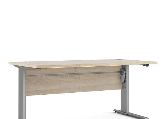 Prima Desk 150 cm in Oak with Height adjustable legs in grey steel