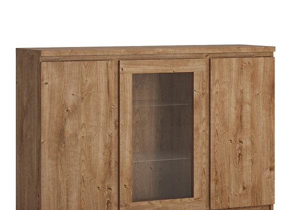 Fribo 3 door sideboard (Glazed centre) in Oak