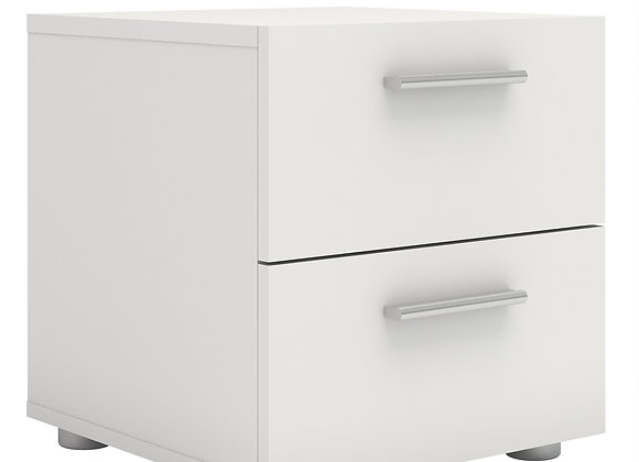 Bedside 2 Drawers in White