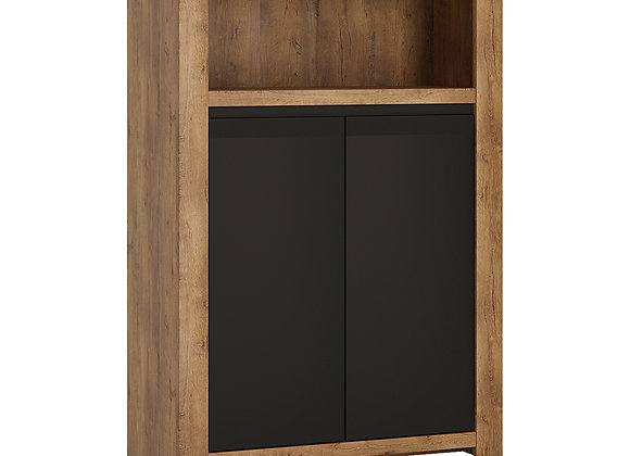 2 door cupboard with open shelf