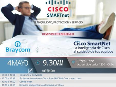 """Desayuno """"CISCO SmartNet: la inteligencia de Cisco al cuidado de tus equipos"""""""