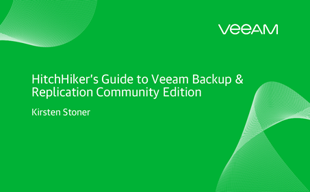Guía de HitchHiker para Veeam Backup & Replication Community Edition