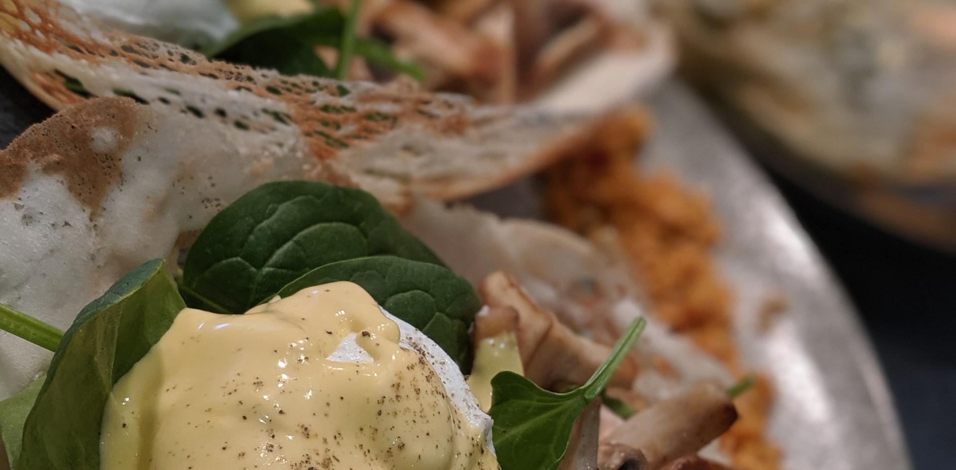 Sri Lankan Style Eggs Benedict (Vegetarian)