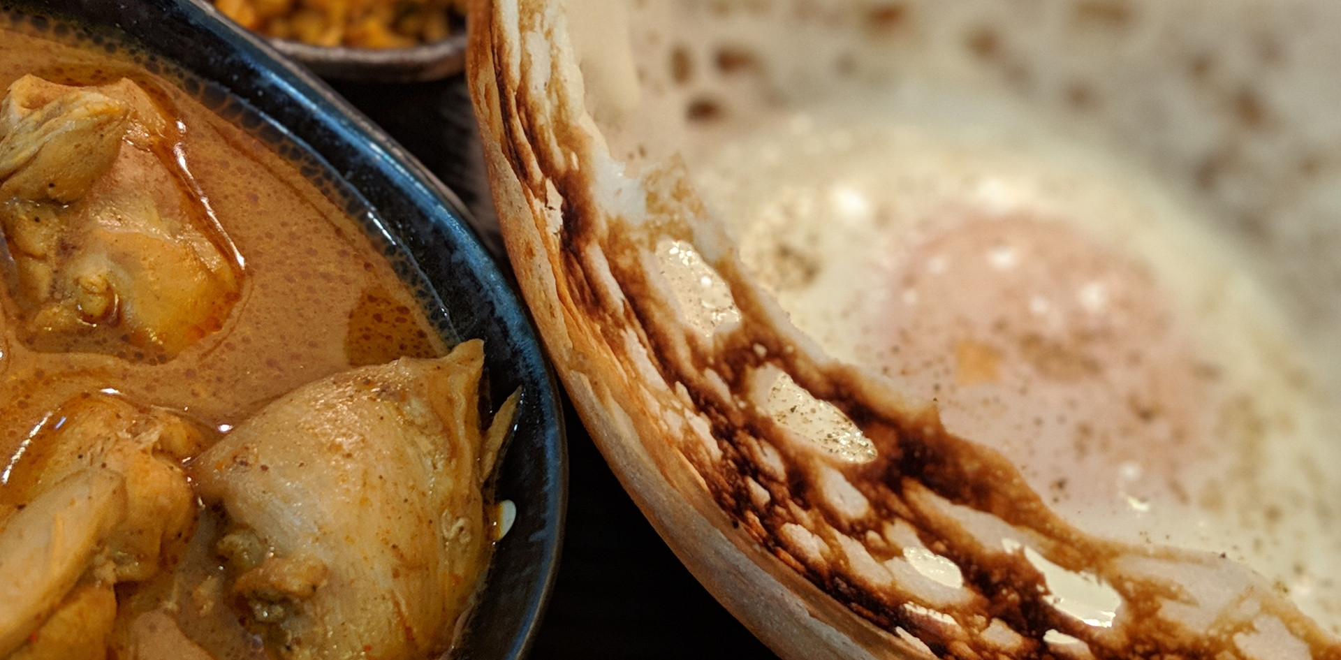 Hoppers with Curry Chicken