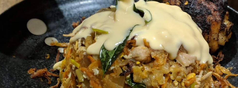 Kottu with added Melted Cheese
