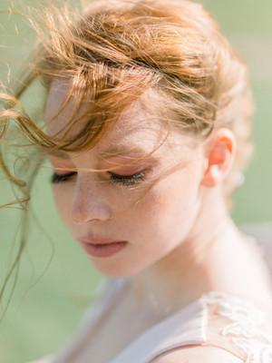 Shades of Wuthering Heights - Editorial - boho bridal shoot at the Chesterton Windmill