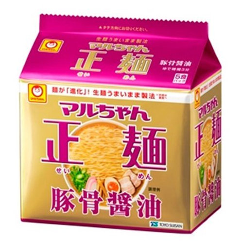 4901990513173マルちゃん正麺 豚骨醤油 5食
