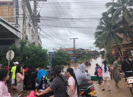 パクセ―での洪水について