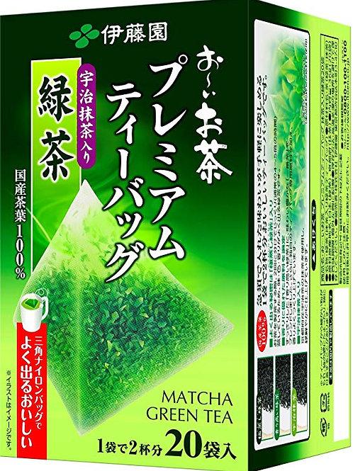 4901085122358お〜いお茶 プレミアムティーバッグ 宇治抹茶入り緑茶 20袋?
