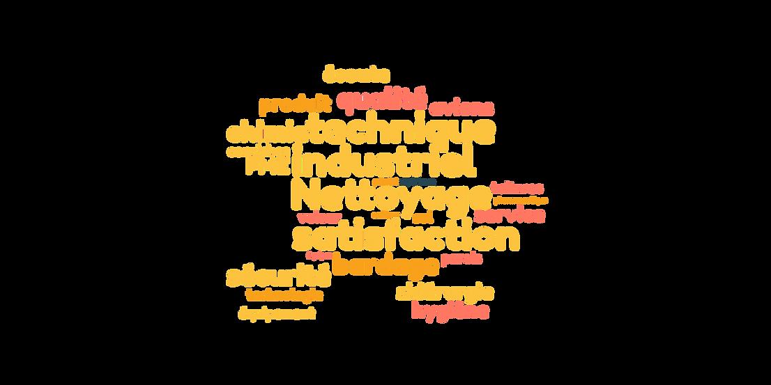 Nuage de mot nettoyage industriel, services nettoyages