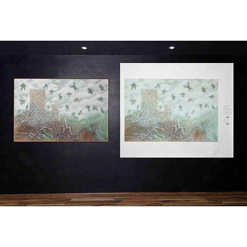 """Cuadros decoración, Arte NeoCrotálico, """"MIGRACIÓN"""" Litografía (Giclée) 150x100CM"""