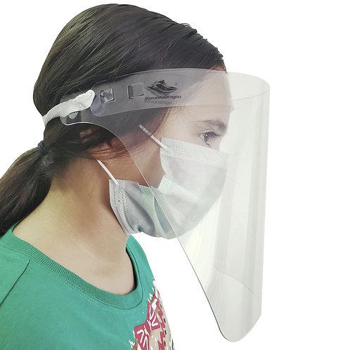 Komodo Dragon® x14 Careta protector facial transparente para cara y ojos de PETG