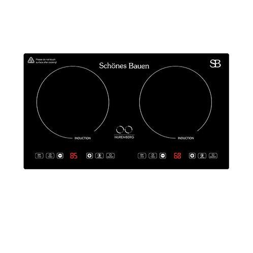 Schönes Bauen® Nuremberg, Parrilla de Inducción Magnética, 2 Zonas, 110/120V