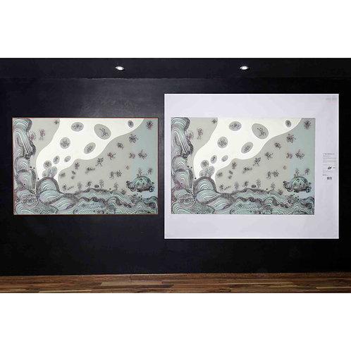 """Cuadros decoración Arte NeoCrotálico """"MIGRACIÓN DE LAS ANIMAS"""" Litografía Giclée"""