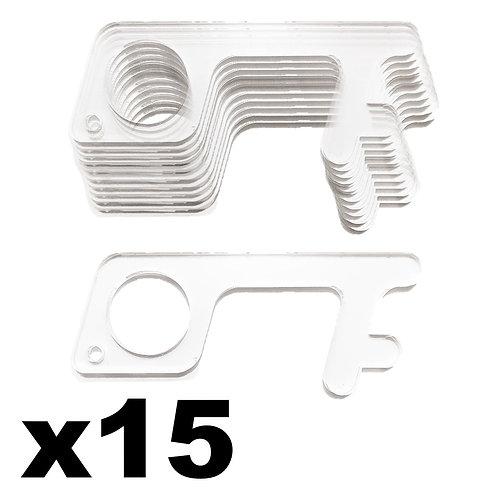 Paquete de 15 Llaves para evitar contacto con objetos públicos